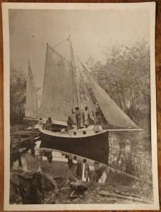 Steel boat t Entebbe 1893